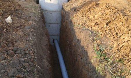 канализация траншея труба