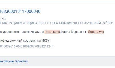 Госзакупки улицы Чистякова и Карла Маркса